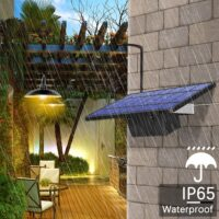IP65 Waterproof Double Head Solar Pendant Light Outdoor Indoor Solar Lamp With Cable Suitable for courtyard, garden, indoor etc,