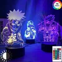 Anime Naruto Uzumaki Led Night Light Team 7 Sasuke Kakashi Hatake Kids Bedroom Nightlight Itachi Uchiha 3d Lamp Child Xmas Gift