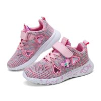 girls shoes kids sneakers for little girl and children shoes summer breathable sport and running shoes pink purple