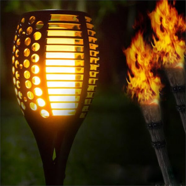 Solar LED Torch Light IP65 Waterproof Outdoor Flame Light Landscape Lawn Lamp Path Lighting Overseas Warehouse