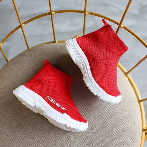 male female sneaker baby shoes Children casual shoes child high elastic foot wrapping snow boots kids knitted socks shoes