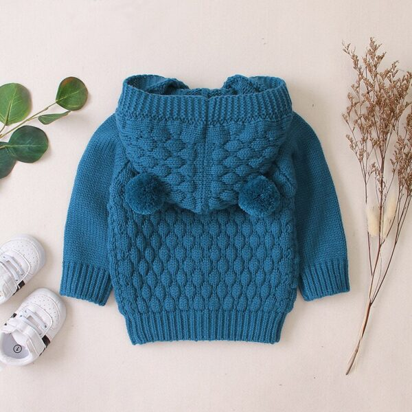 LZH 2020 Autumn Infant Hooded Knitting Jacket For Baby Clothes Newborn Coat For Baby Boys Girl Jacket Winter Kids Outerwear Coat