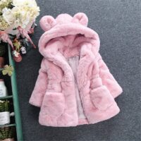 Winter Baby Jackets For Girls Clothes Baby Clothing Cute Ears Kids Hooded Coats Toddler Warm Jacket Infant Boys Outerwear