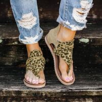 2020 Top seller - Women sandals Leopard Pattern Large Size Rome Sandals Women's Anti-slip Hot Selling Wedges Summer shoes