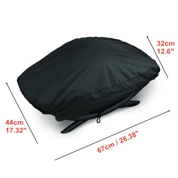 210D Oxford Cloth BBQ Grill Waterproof Dust Cover For Q100/1000 Series Weber 7110 BBQ Grill 67x44x32cm