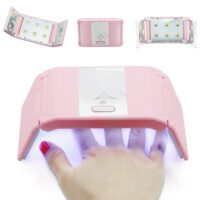 LKE Folded Nail Dryer 36W UV Lamp For LED Gel Portable Nail Lamp Arched Shaped Lamps for Nail Art Perfect Thumb Drying Solution