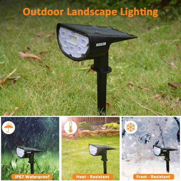 SHOPLED Led Solar Light Outdoor Solar Lamp Garden Landscape Lawn Lamp P67 Solar Powered 2 In 1 Wireless Decoration Wall Lighting