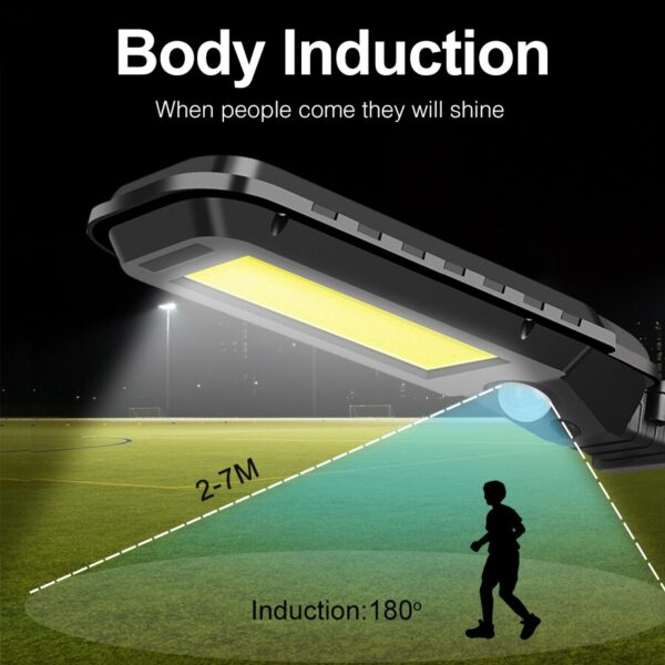 COB 60/210 LED Solar Street Light Wall lamp Outdoor IP65 Waterproof Motion Sensor Path Alley Courtyard Street Night Lighting
