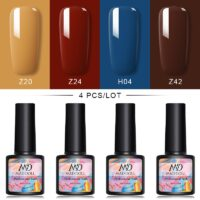 4 Pcs/Set MD DOLL 8ml Gel Nail Polish VarnishSet For Nail Extension Kit Nail Art For UV LED Gel Varnish Set For Nail Art
