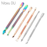 Double Sided Stainless Steel Metal Cuticle Pusher Cuticle Dead Skin Trimmer Remover Nail File Manicure Art Pedicure Care Tool