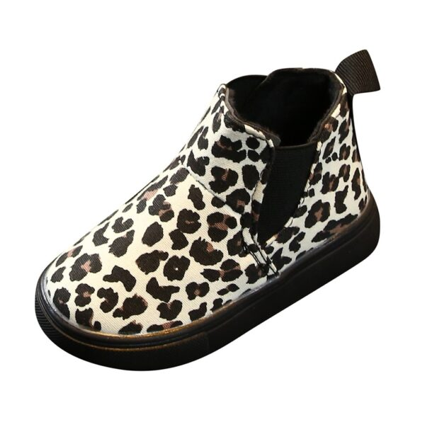 Fashion Children Kids Baby Girls Martin Boots Shoes Leopard Printed Winter Autumn Warm Short Boots Casual Shoes booties#g4