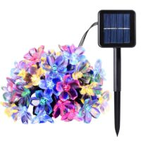 Solar String Lights 10m 100led Peach Flower Waterproof Outdoor Decoration Lighting Fariy Christmas Lights Wedding party Garden