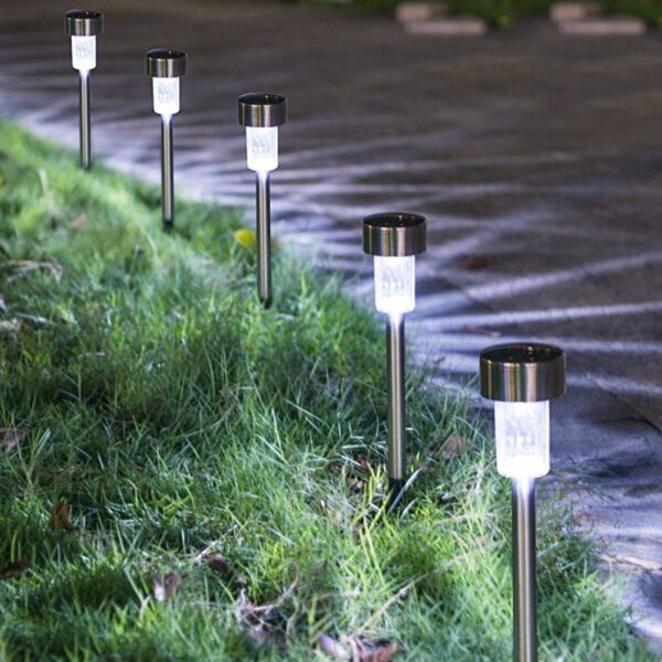 F5 10/12/16pcs Cold white Solar Lights Outdoor Solar Powered Pathway Light Landscape Light For Lawn/Patio/Yard/Walkway/Driveway