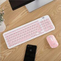 Wireless Mouse Keyboard for Computer Laptop Stylish Mini Portable Keyboard Mouse Combos Slim Quiet 96 keys Office Lady Gift