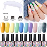 10/11Pcs/Set MAD DOLL Gel Nail Polish 6W UV LED Light Set 90 Colors UV Led Nail Gel Varnish Soak Off Nail Art Lacquers Base Coat