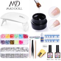 MAD DOLL UV Led lamp 5g Nail Extension Gel Nail Polish Set For Nail Extension Fast Gel Lacque Hybrid Semi Permanent UV Manicur