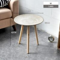 Tea Table End Table For Office Coffee Table Wooden Round Magazine Shelf Small Sofa Side Table Movable Living Room Furniture