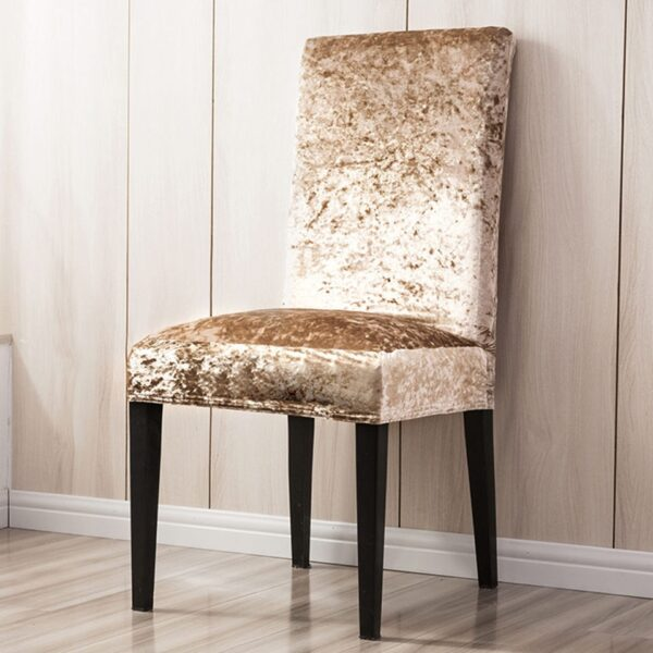 Super Soft And Delicate Velvet Chair Cover For Kitchen/Wedding Elastic Chair Covers Spandex Dining Room Office Chair Slipcover