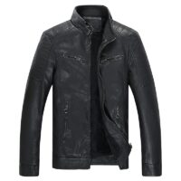 FGKKS Men Motorcycle Leather Jackets Coats Winter Male Solid Color High Quality Faux PU Jacket Coat Mens Casual Leather Jackets