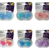 Avent Pacifiers Ultra Soft Soother Avent Orthodontic Silicone Soothers Dummy NATURE 0-6M / 6-18M