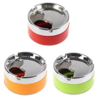 1pc Red Green Orange Detachable Rotatable Lid 360 Degree Free Rotation Stainless Steel Corrosion Resistance Cigarette Ashtray