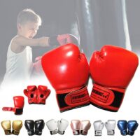 NEW 2-8 Years Kids Boxing Gloves For Fun Muay Thai Fight Sanda Martial Arts Bag Punching Training Mitts Gear