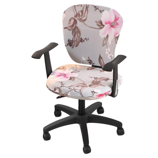 Stretch Seat Cover for Computer Chair Elastic Office Chair Cover Dining Chair Seat Cover Slipcover Protector Housse De Chaise