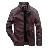 FGKKS Brand Men Leather Jackets 2020 Winter Jacket Male Classic Motorcycle Style Male Inside Thick Coats Men's Leather Jacket